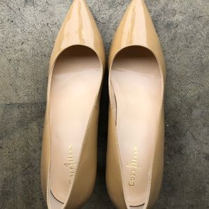 Cole Haan patent leather nude pumps (Nike air) 8.5